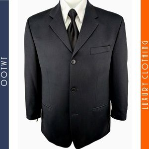 DKNY BLOOMINGDALE'S 38S Black 3 Button Sport Coat